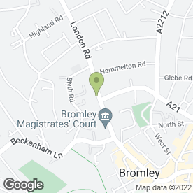 Map of Dobsons Solicitors in Bromley, kent