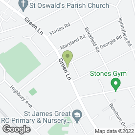 Map of Green Lane Post Office in Thornton Heath, surrey