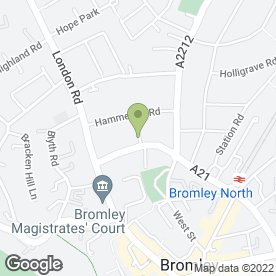 Map of The Buckley Practice Ltd, in Bromley, kent