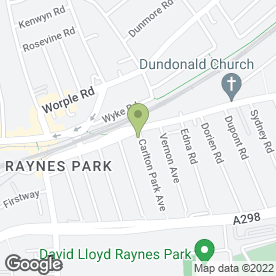 Map of Cinnamon Tree in Raynes Park, London, london