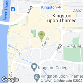 Map of Pret a Manger in Kingston Upon Thames, surrey