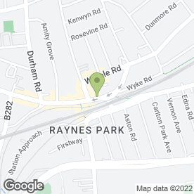 Map of Howell-Jones in Raynes Park, london