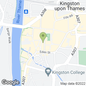 Map of Seriously Sofas Limited in Kingston Upon Thames, surrey