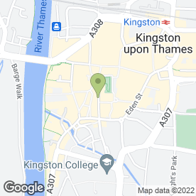 Map of Bacchus Late Bar & Venue in Kingston Upon Thames, surrey