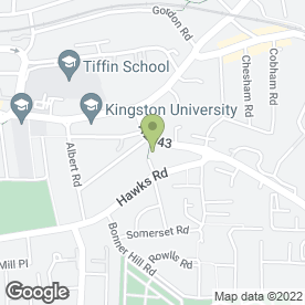 Map of Woodland Products Design Ltd in Kingston Upon Thames, surrey