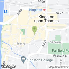 Map of Citizens Advice Bureau in Kingston Upon Thames, surrey