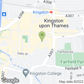 Map of McDonald's Restaurants Ltd in Kingston Upon Thames, surrey