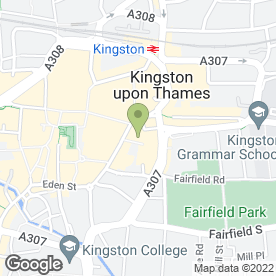 Map of Pinks in Kingston Upon Thames, surrey