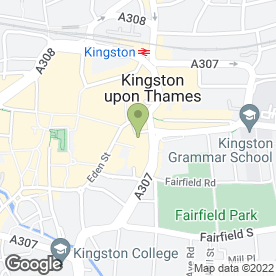 Map of Travelodge Hotels Ltd in Kingston Upon Thames, surrey