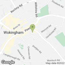Map of Papa John's in Wokingham, berkshire