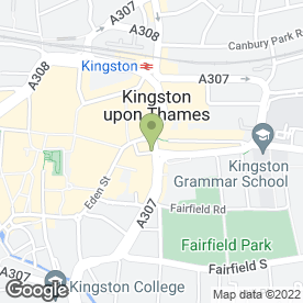 Map of Aroma in Kingston Upon Thames, surrey