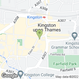 Map of HSBC Bank plc in Kingston Upon Thames, surrey