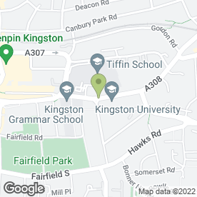 Map of Fulfords of Kingston in Kingston Upon Thames, surrey