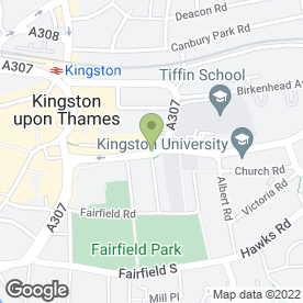 Map of Futon Co in Kingston Upon Thames, surrey