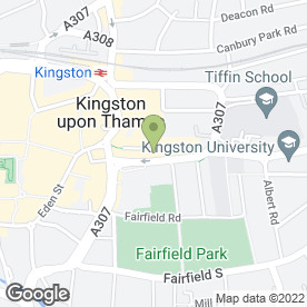 Map of Fast Stitch in Kingston Upon Thames, surrey