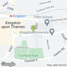 Map of Little Italy in Kingston Upon Thames, surrey