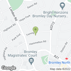 Map of HSS Hire in Bromley, kent