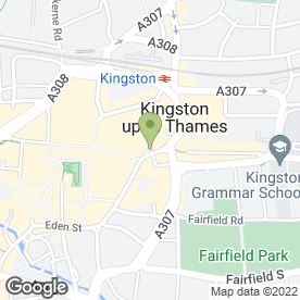 Map of Starbucks Coffee (Kingston Clarence St) in Kingston Upon Thames, surrey