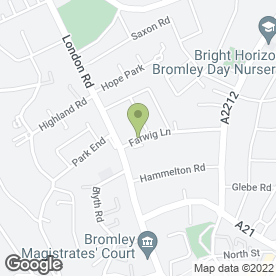 Map of Fresh Indulgence Ltd in Bromley, kent