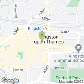 Map of PDC Design & Print in Kingston Upon Thames, surrey