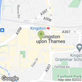 Map of Virgin Money in Kingston Upon Thames, surrey