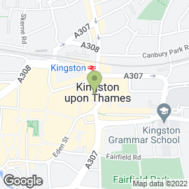 Map of Frankie & Benny's in Kingston Upon Thames, surrey