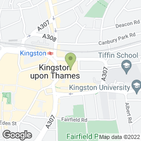 Map of PizzaExpress in Kingston Upon Thames, surrey
