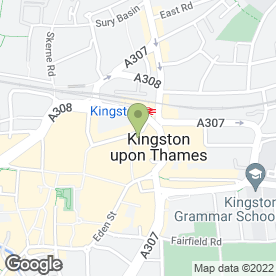 Map of Kingston Gold Buyer in Kingston Upon Thames, surrey