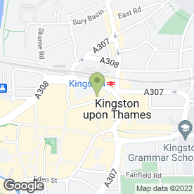 Map of Kinleigh Folkard & Hayward Letting Agents in Kingston Upon Thames, surrey