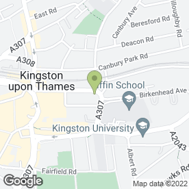 Map of TTP in Kingston Upon Thames, surrey