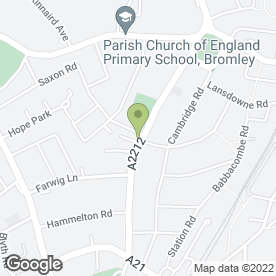 Map of Premier Orthodontics in Bromley, kent