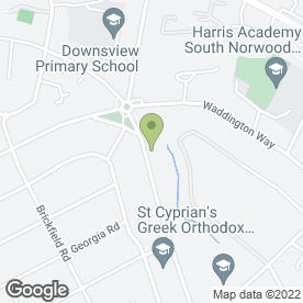 Map of Mobile Vet Services in Thornton Heath, surrey