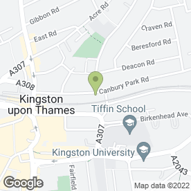 Map of Canbury Studio in Kingston Upon Thames, surrey