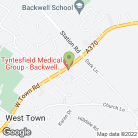 Map of Backwell Medical Centre in Backwell, Bristol, avon