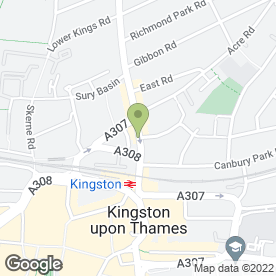 Map of Bonta in KINGSTON UPON THAMES, surrey