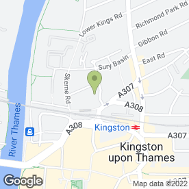 Map of B Safe in Kingston Upon Thames, surrey