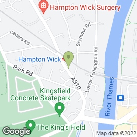Map of Anthony Osborne Associates in Hampton Wick, Kingston Upon Thames, surrey