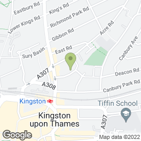 Map of Kunat - London Fashion House in Kingston Upon Thames, surrey