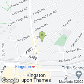 Map of Katey's House Ltd in Kingston Upon Thames, surrey