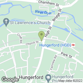 Map of Nationwide Building Society in Hungerford, berkshire