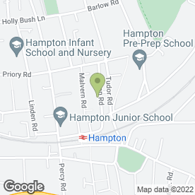Map of Hampton Beds in Hampton, middlesex