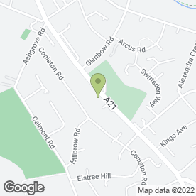 Map of Shell Service Station in BROMLEY, kent