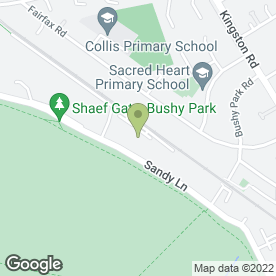 Map of The Gentle Touch in Teddington, middlesex
