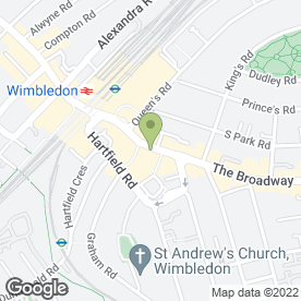 Map of Odeon Cinema in Wimbledon, London, london