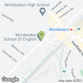 Map of Wimbledon Guild Counselling Service in London, london