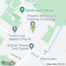 Map of The Dance School in Sidcup, kent