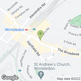 Map of Wimbledon Dental Care in Wimbledon, London, london
