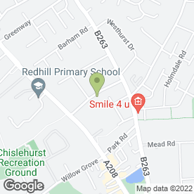 Map of Kevin Neville Mobile Mechanic Services in Chislehurst, kent