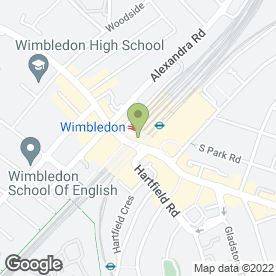 Map of Greggs in Wimbledon, London, london