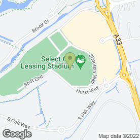 Map of Millennium Madejski Hotel Reading in Reading, berkshire